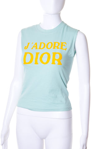 Christian DiorJ'Adore Dior Tank in Teal- irvrsbl