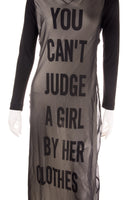 "Moschino""You Can't Judge A Girl By Her Clothes"" Dress- irvrsbl"