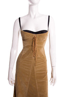 Dolce and Gabbana Corduroy Bustier Dress - irvrsbl