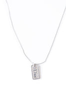Christian DiorRhinestone Dog Tag Necklace- irvrsbl