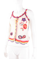 Hysteric Glamour Crochet Top with Patches - irvrsbl