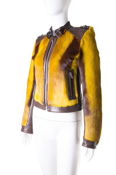 Dolce and GabbanaFur and Leather Jacket- irvrsbl