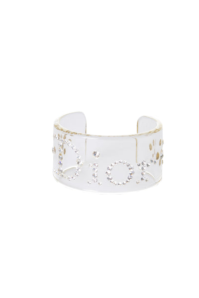 Christian DiorClear Acrylic Bangle- irvrsbl