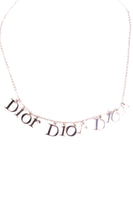 Silver Toned Logo Necklace