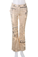 Newspaper Print Pants