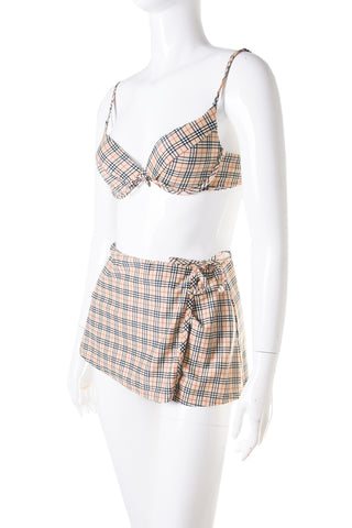Nova Check Bikini With Skirt