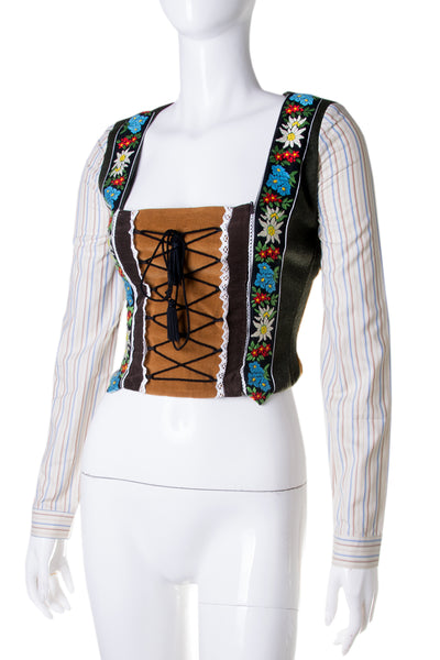 Dolce and GabbanaTyrolean Corset Top- irvrsbl