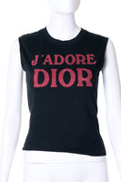 Christian DiorJ'Adore Dior Top in Black- irvrsbl