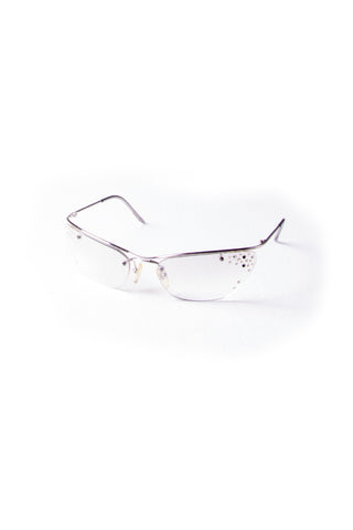 Christian DiorFlash Rhinestone Cat Eye Sunglasses- irvrsbl