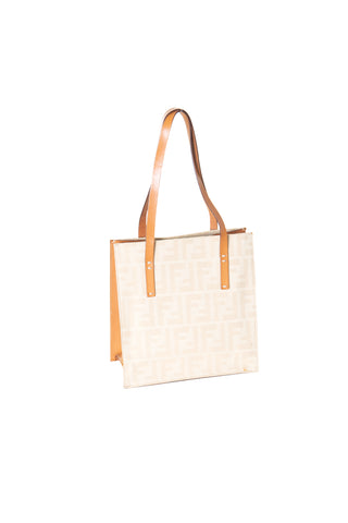 FendiMini Cream Monogram Handbag- irvrsbl