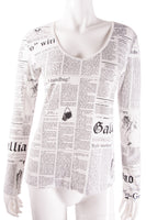John GallianoNewspaper Print Top- irvrsbl