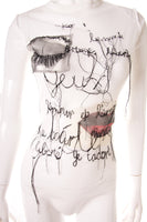 Jean Paul GaultierSheer Surrealist Top- irvrsbl