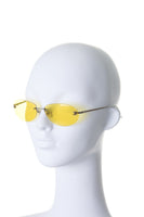 Yellow Rimless Sunglasses