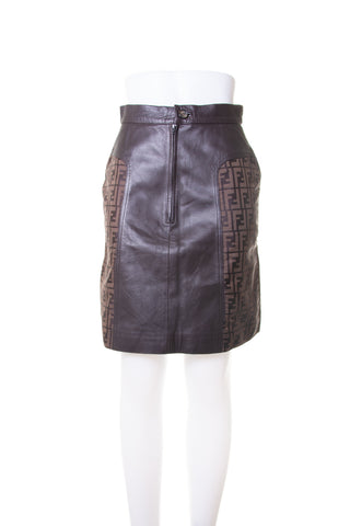 Zucca Leather Skirt