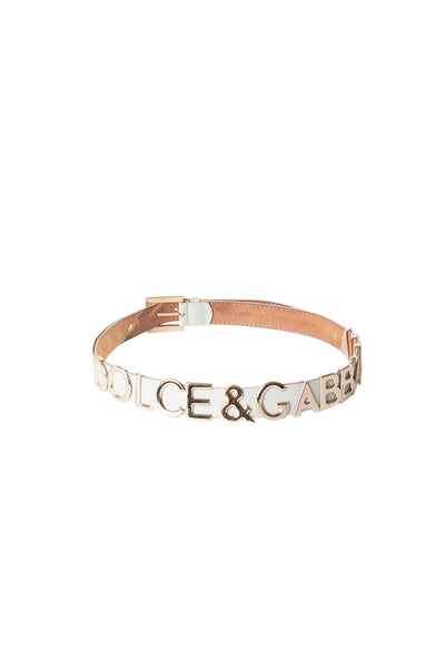 Dolce and GabbanaLettering Belt - irvrsbl