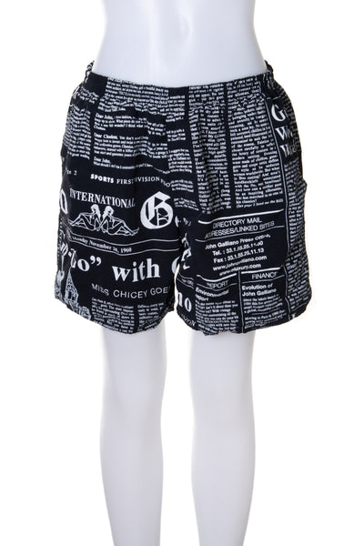 Newspaper Print Shorts