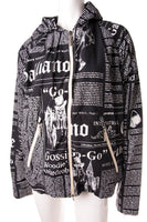 John GallianoNewspaper Print Hooded Jacket- irvrsbl
