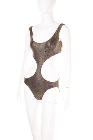 Cutout Metallic Swimsuit