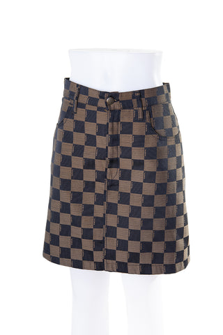 FendiCheckerboard Skirt- irvrsbl