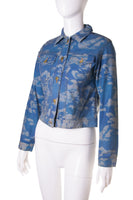MoschinoCloud Print Denim Jacket- irvrsbl