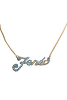 Diamante Script Necklace