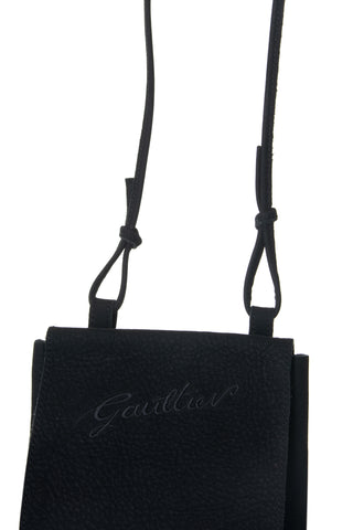 Suede Gaultier Messenger Bag