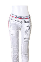 Newspaper Print Leggings