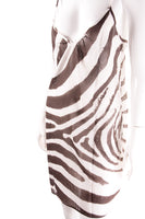 Sheer Zebra Print Dress