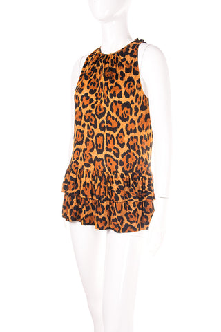 Leopard Tunic Top