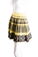 VersaceSilk Greek Key Print Skirt- irvrsbl