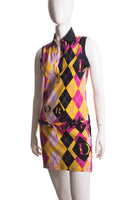 Argyle Print Dress