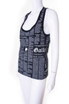 John GallianoGazette Print Tank Top- irvrsbl