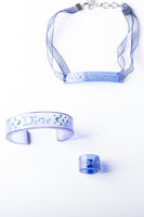 Christian DiorLucite Bangle, Ring and Choker Set- irvrsbl