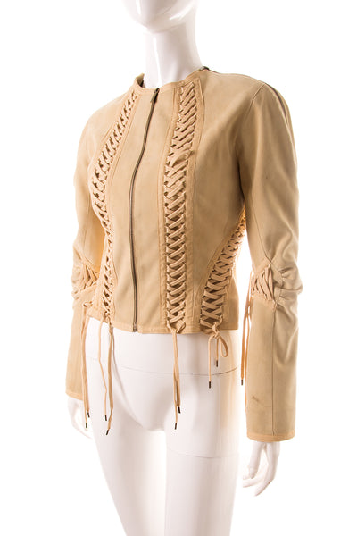 Suede Lace Up Jacket