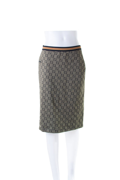 FendiMonogram Print Skirt- irvrsbl