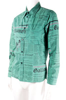 Newspaper Print Shirt