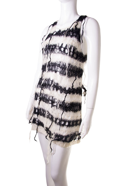 Comme Des Garcons Junya Watanabe Spiderweb Knit Dress - irvrsbl