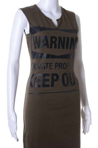 Warning, Private Property.  Keep Out! Dress