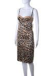 Animal Print Bustier Dress
