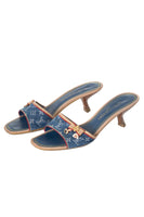 Monogram Denim Heels 37