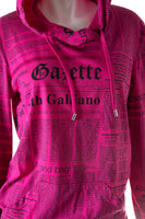 John GallianoHot Pink Newspaper Print Top- irvrsbl