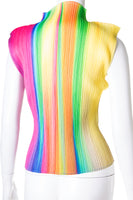 Rainbow Pleated Top