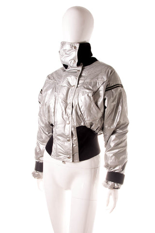 Silver Jacket with Removable Sleeves