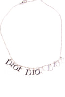 Christian DiorSilver Toned Logo Necklace- irvrsbl