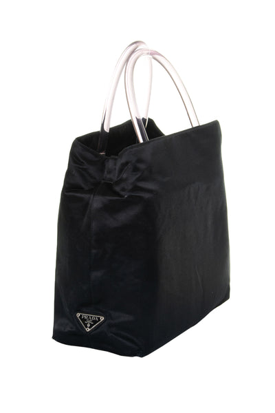Satin Bag with Acrylic Handle