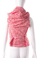 AD2008 Draped Red Gingham Top