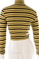 Striped Mock Turtleneck