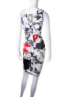 John GallianoNewspaper Print Dress- irvrsbl