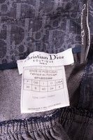 Christian DiorMonogram Printed Denim Skirt- irvrsbl