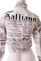 John GallianoNewspaper Print Jacket- irvrsbl